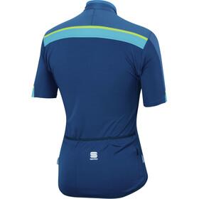 Sportful Pista Bike Jersey Shortsleeve Men blue/turquoise